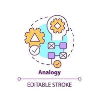 Analogy concept icon vector