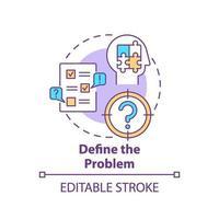 Define the problem concept icon vector