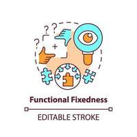 Functional fixedness concept icon vector