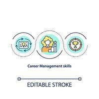 icono de concepto de habilidades de gestión de carrera vector