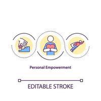 icono del concepto de empoderamiento personal vector