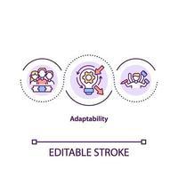 icono del concepto de adaptabilidad vector