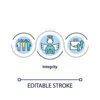 icono del concepto de integridad vector