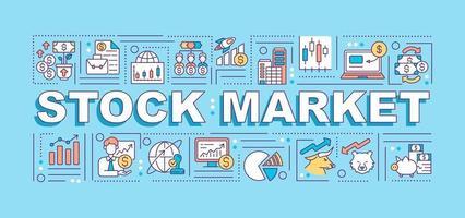Stock market word concepts banner vector