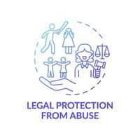 icono de concepto de protección legal contra el abuso vector