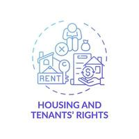 Housing and tenants rights concept icon vector