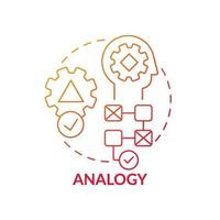 Analogy red gradient concept icon vector