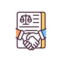 Hacer trato legal icono de color rgb vector
