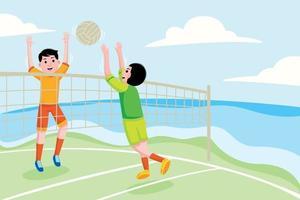 Ilustración de vector de voleibol de playa