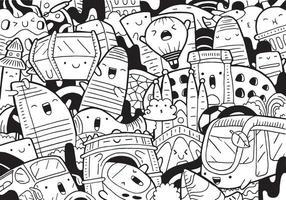 Doodle de barcelona con ilustración vectorial. vector