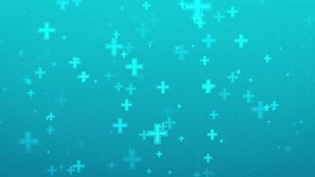 fondo verde azul con iconos más flotando