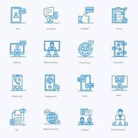 iconos modernos, de discusión y comunicación vector