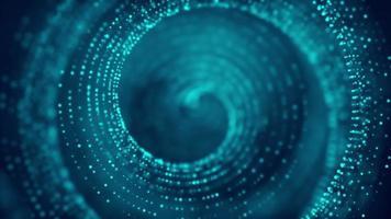 fond de cercle de tunnel de ligne de particules abstraites