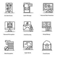 elementos de seguridad y protección vector