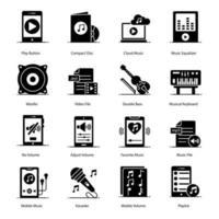 equipo de música y multimedia vector