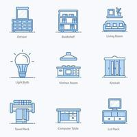 Interior and Home Cleaning Icons vector