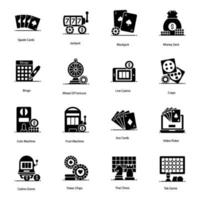 Trendy Casino and  Games Icons vector