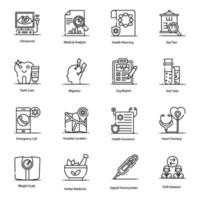 Medical, Illness and Diagnosis Icons vector