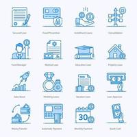 Lending Money and Mortgage Icons vector