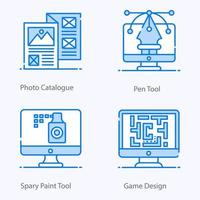 Design Resource And Creative Process Icons vector
