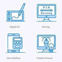 elementos de arte digital vector