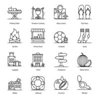 Traveling and Adventures Icons vector