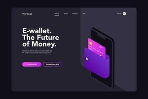 página de inicio de billetera vector
