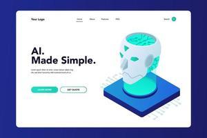 Artificial Intelligence Website vector