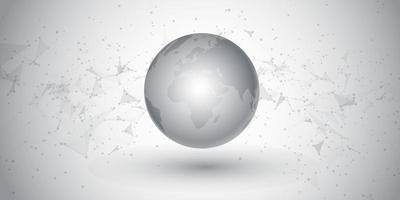 Abstract banner with a network communications and globe design vector