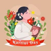 Kartini Day Celebration Concept vector