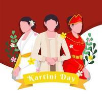 Celebrating Kartini day Design vector
