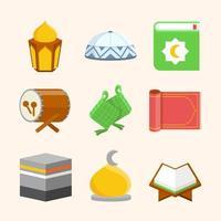 colección de iconos de eid mubarok vector