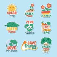 Earth Day Sticker Collection