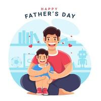Happy Father's Day Design vector