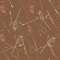Wild grasses vector seamless pattern