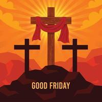 fondo de viernes santo vector