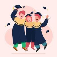 concepto de graduación de estudiantes vector