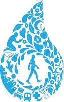 estilo de vida saludable doodle vida moderna silueta vector clipart dibujo
