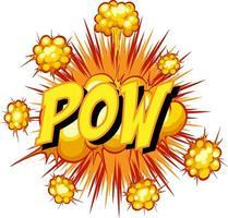 Comic speech bubble with pow text vector