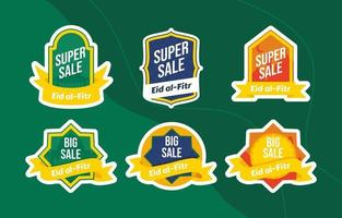 Label Promotion with Eid al Fitr Theme vector
