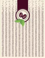 Coffee bean striped background vector
