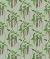 Floral abstract birch leaf seamless pattern vector