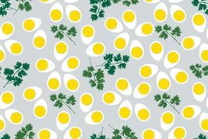 Egg and leaves pattern