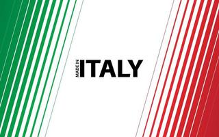 Modern vector background. Diagonal stripes in the look of the Italian flag. Made in Italy