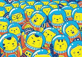 Cats astronaut vector illustration