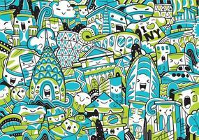 Ilustración de vector de paisaje urbano de nueva york