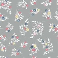 patrón floral sin fisuras. flor de campanilla de fondo vector