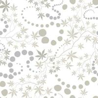 Floral pattern with leaves and flowers and geometric shapes vector