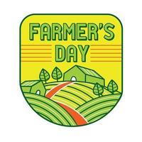 Farmer's day in flat design style. vector