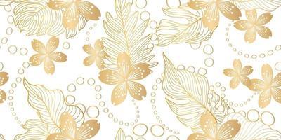 patrón floral sin fisuras en estilo oriental vector